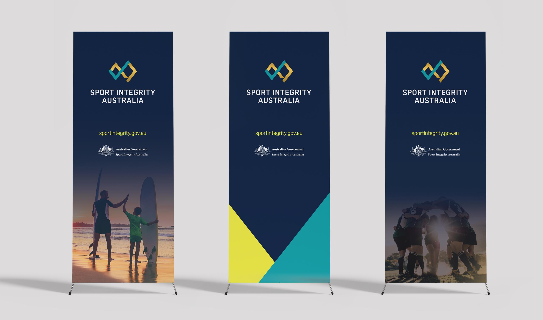 sport integrity australia standing display banners